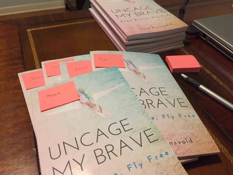 Uncage My Brave books reservations