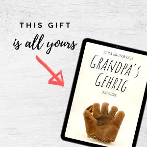 Grandpa's Gehrig short story promotion